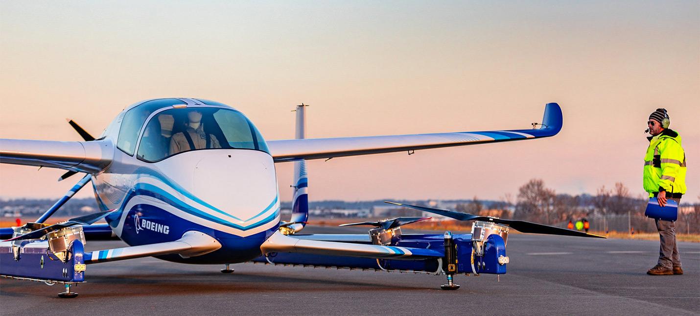 Автономное летающее такси Boeing прошло первый тест