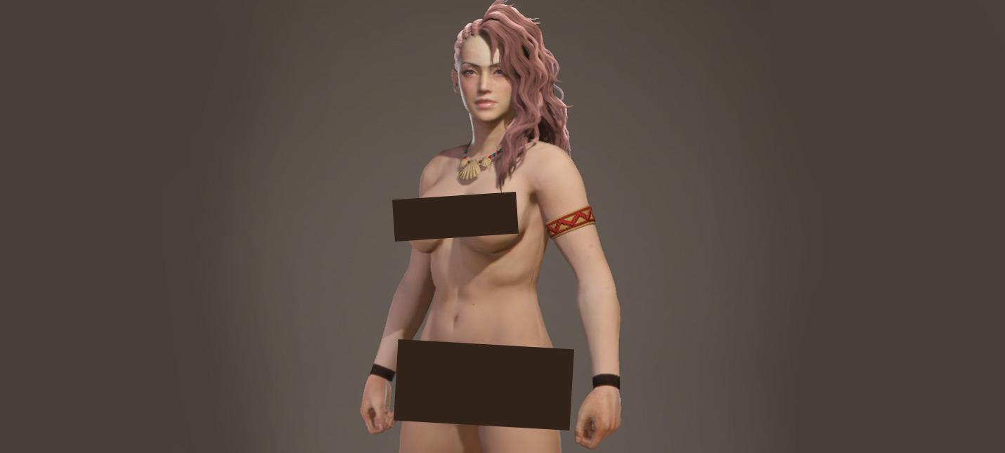 """Первый качественный """"голый"""" мод для Monster Hunter World с физикой груди"""