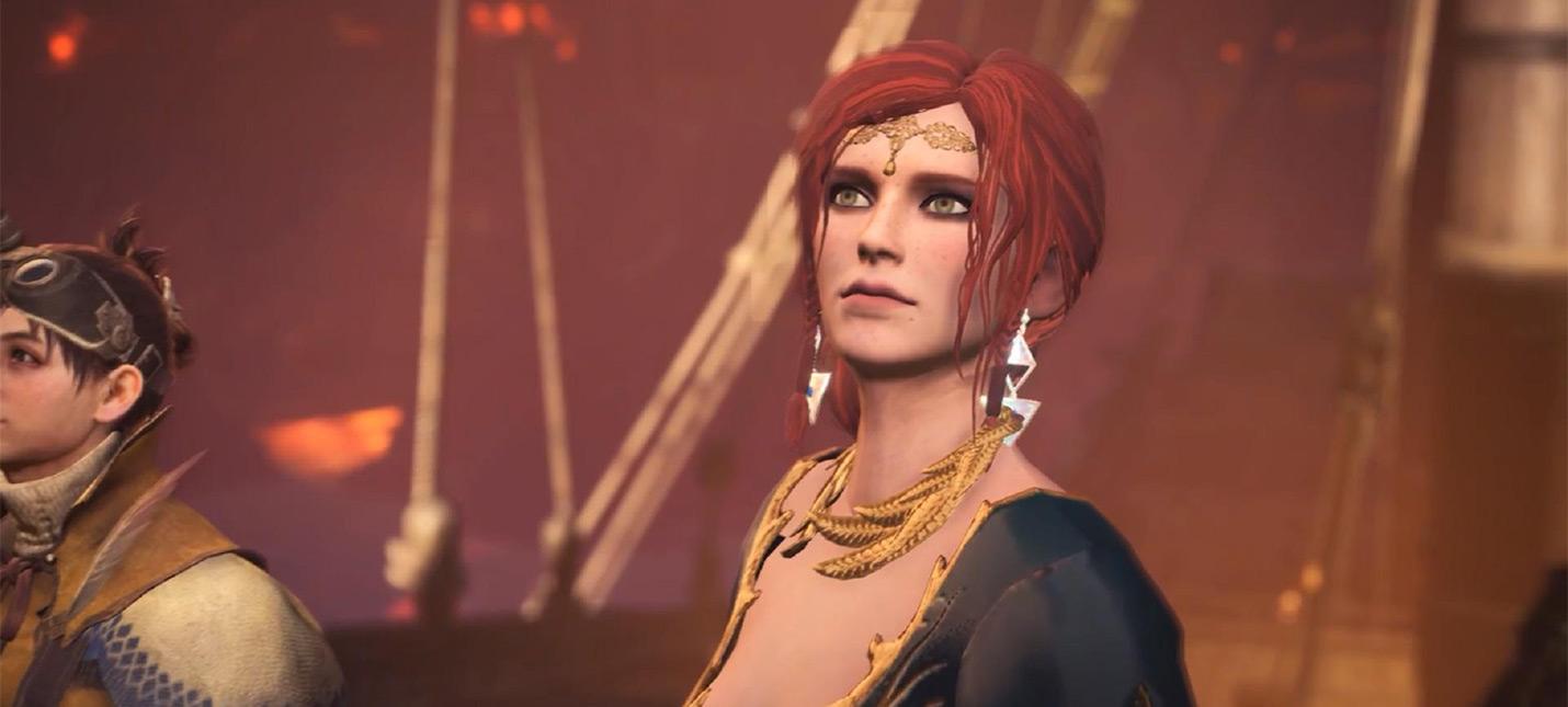 Мод позволяет играть в Monster Hunter: World за Трисс из The Witcher 3