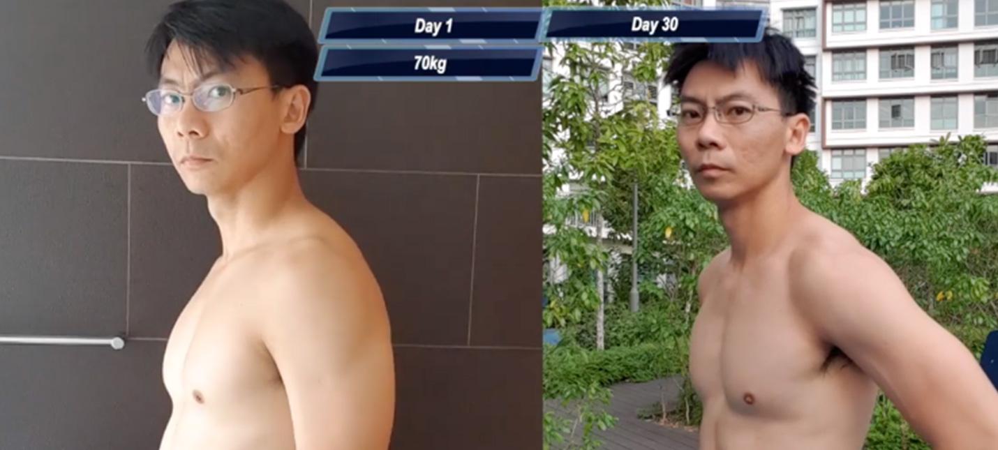 Мужчина сбросил вес и подкачал мышцы благодаря методу из аниме One-Punch Man