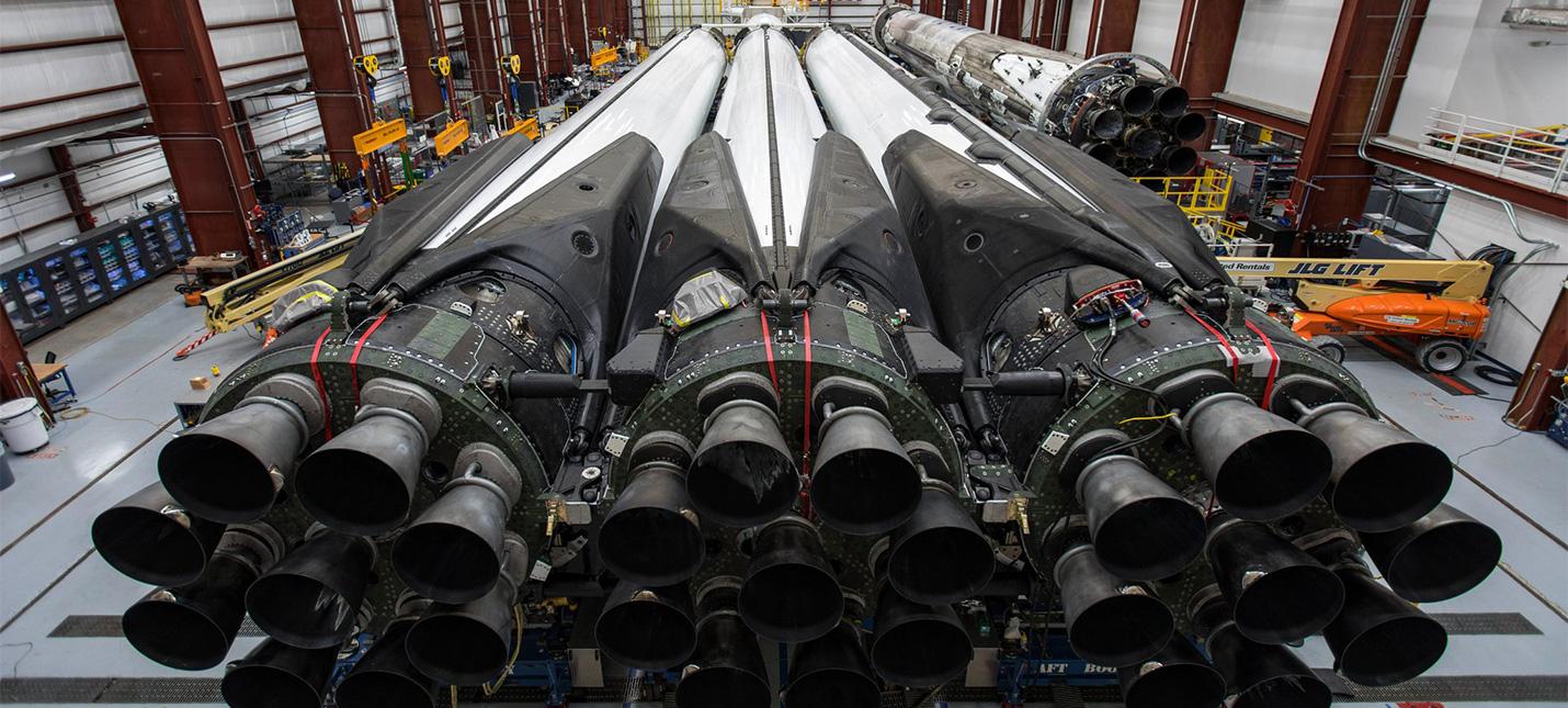 Прямой эфир с первого коммерческого запуска Falcon Heavy