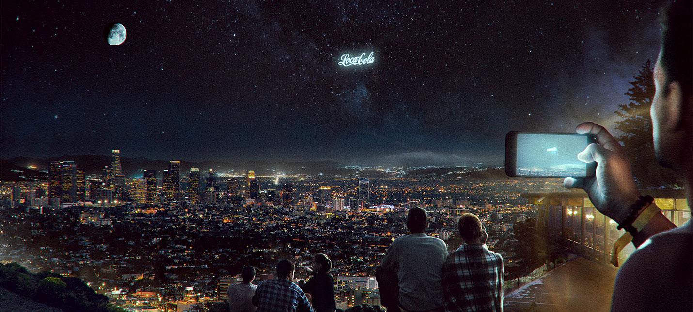 Pepsi планирует показывать рекламу в ночном небе