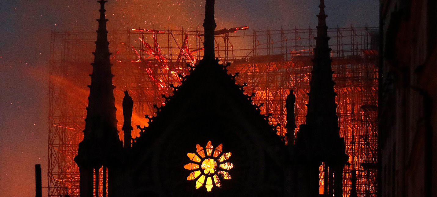 Последствия пожара в Нотр-Даме