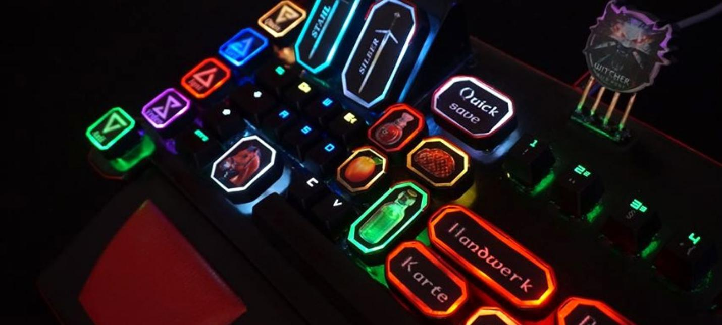 Кастомная клавиатура специально для игры в The Witcher 3