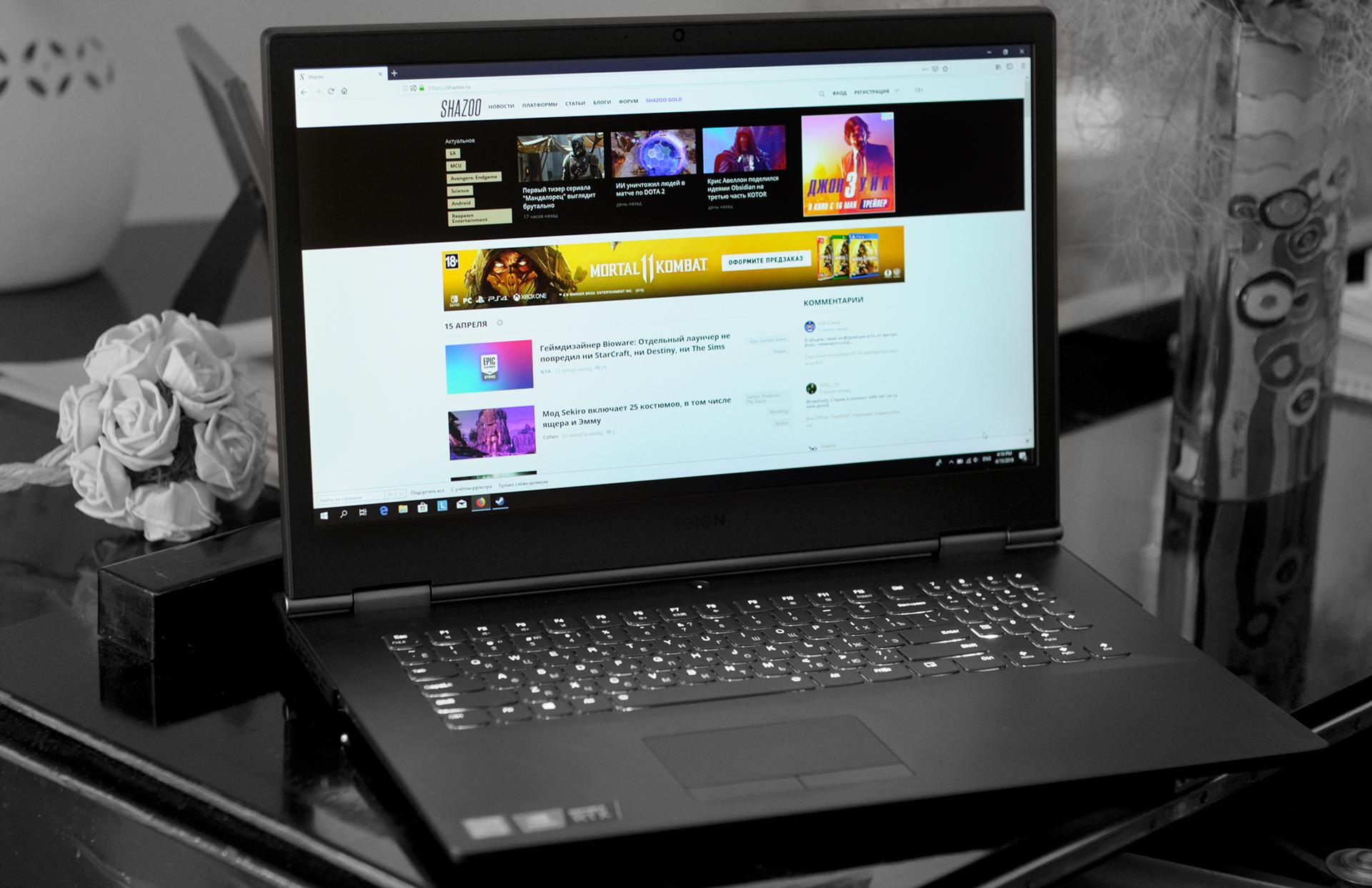 Обзор Lenovo Legion Y740: геймер одобряет