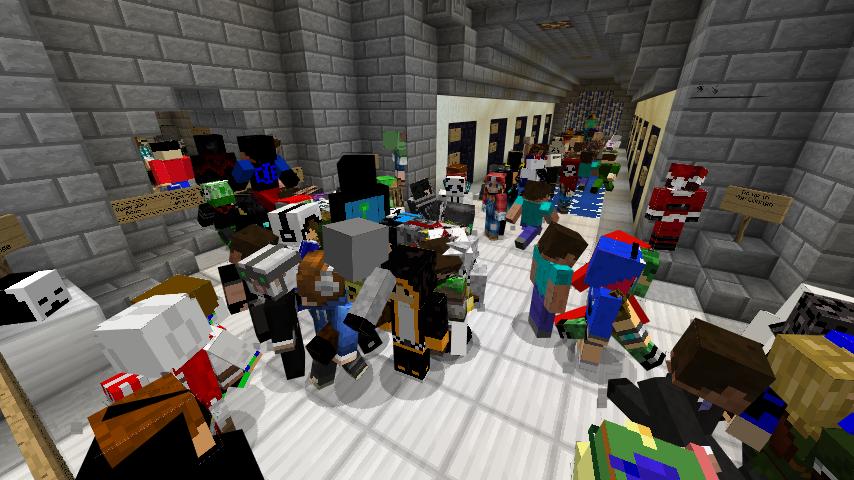 Майнкрафт где много игроков