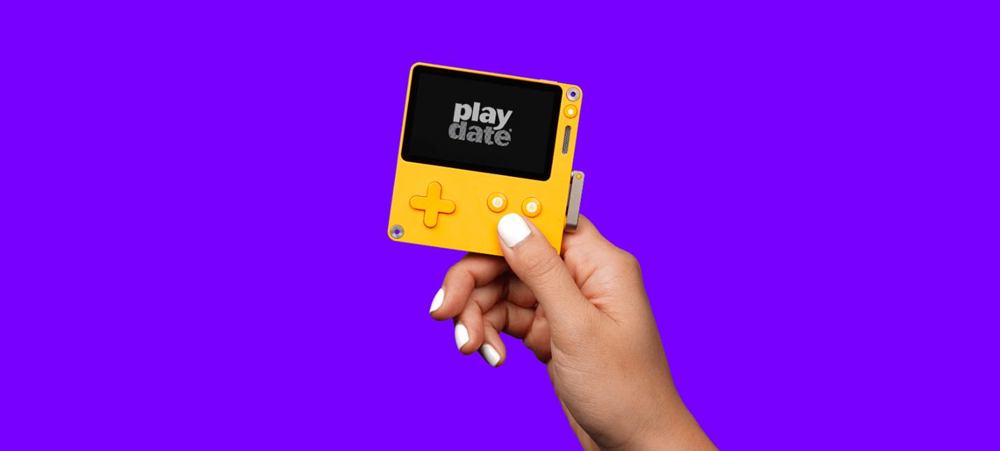 Playdate — новая портативная игровая консоль с заводной рукояткой