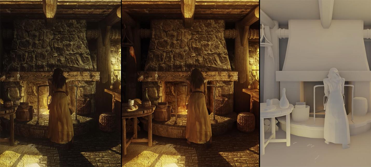 Вот так выглядит Skyrim с трассировкой лучей — действительно лучше