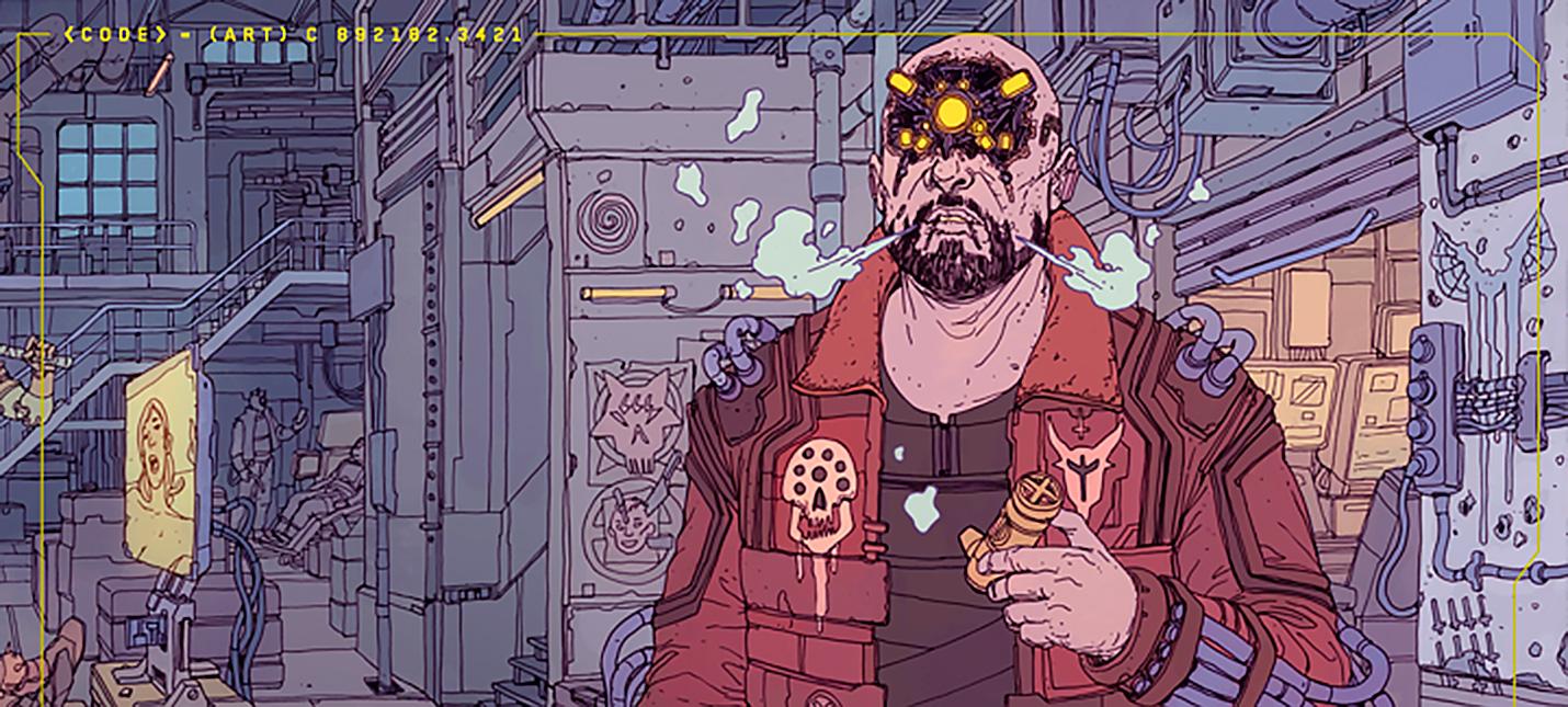 Банды Cyberpunk 2077 на официальных стилбук-артах от deathburger