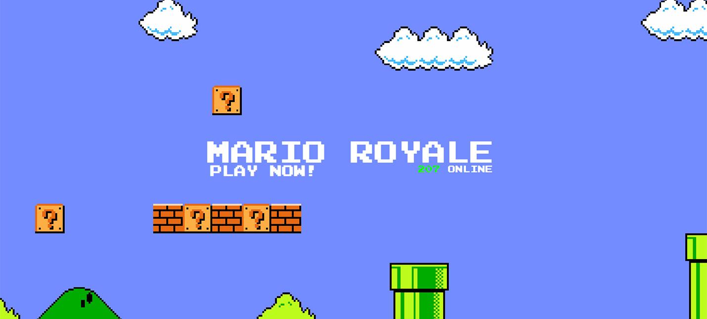 Умелец создал браузерную королевскую битву Super Mario Bros