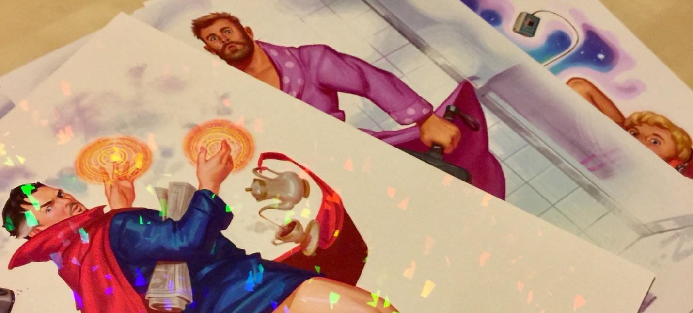Арт: Супергерои Marvel в стиле пин-ап