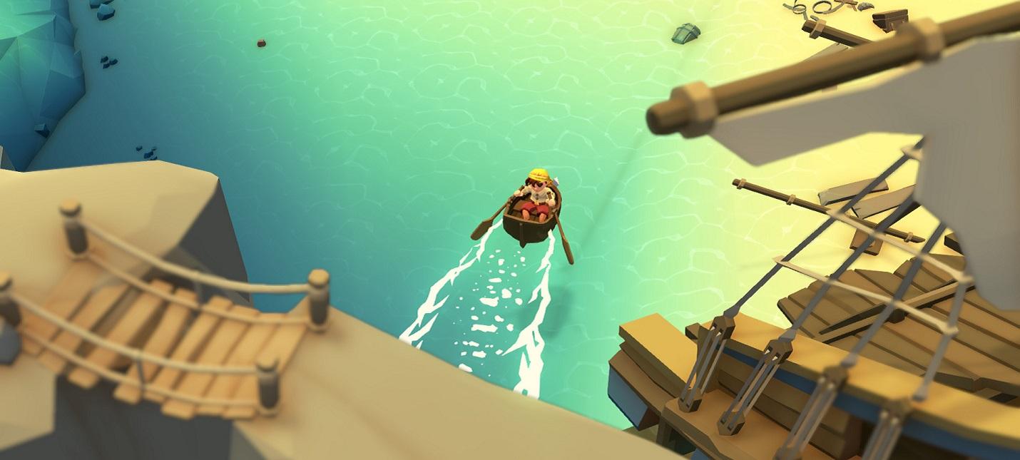 Строительство фермы и исследование гротов в трейлере Stranded Sails: Explorers of the Cursed Islands