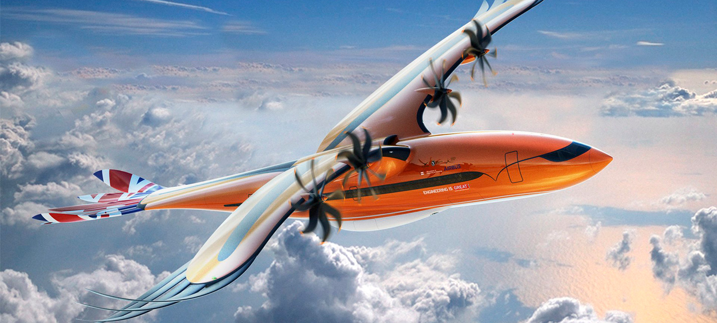 Airbus представила концепт самолета, вдохновленного хищными птицами
