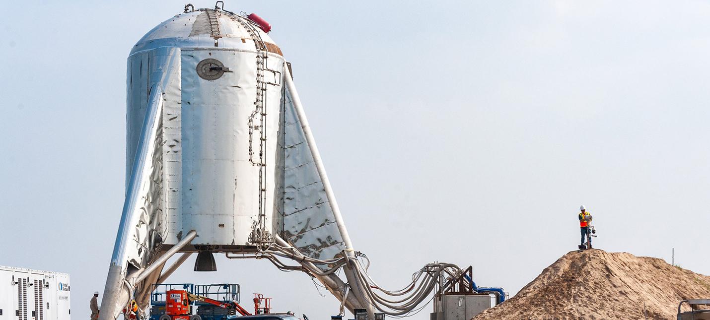 Ракета SpaceX Starhopper загорелась во время испытаний