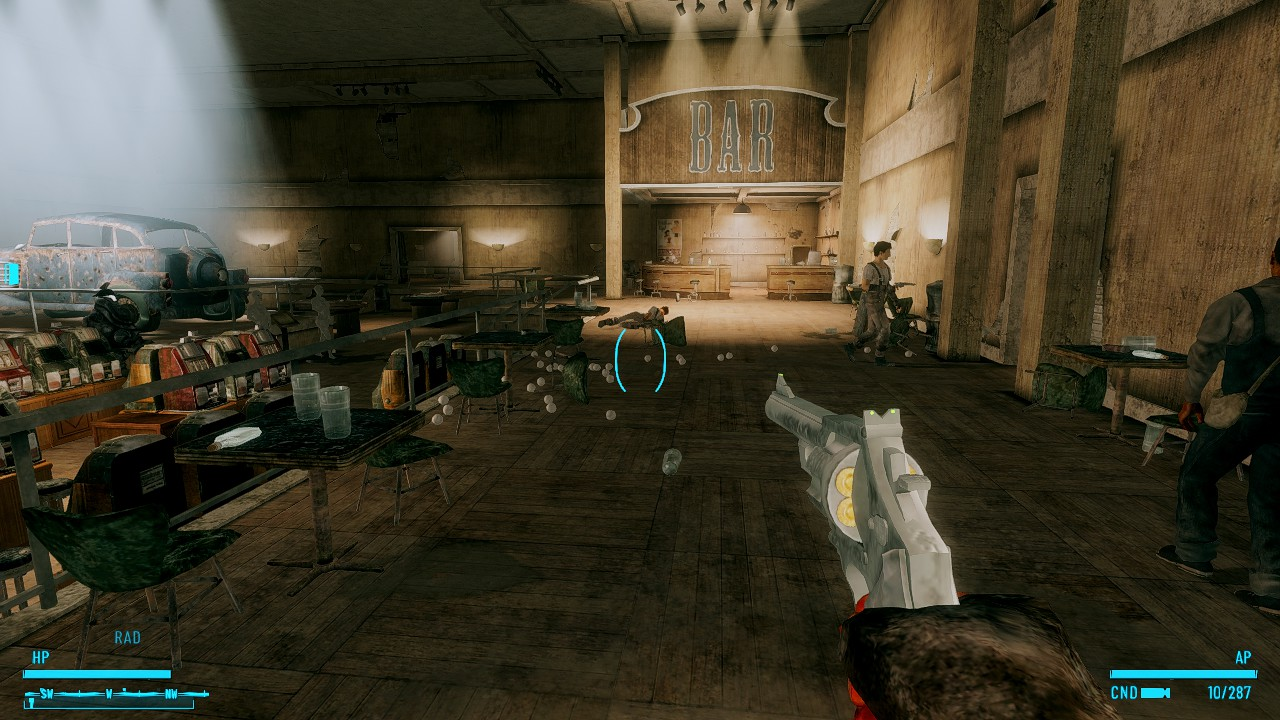 Моддер добавил в Fallout: New Vegas револьвер, стреляющий бейсбольными мячами