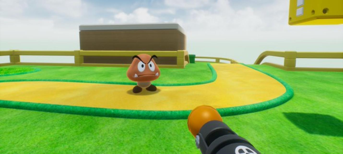 Начальный уровень из Super Mario Bros. переделали в шутер от первого лица