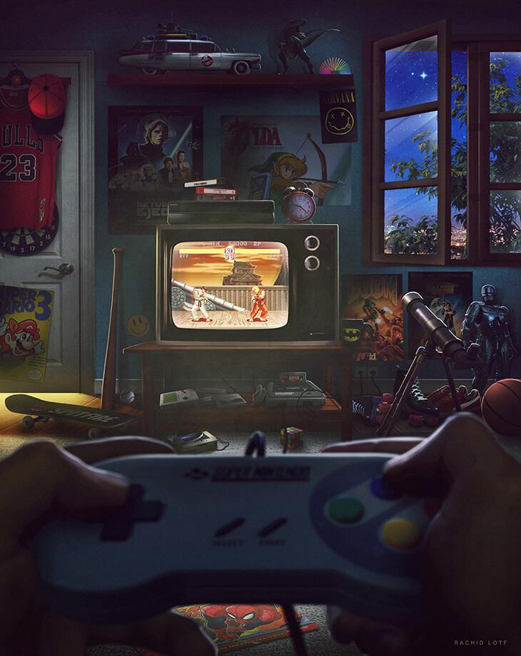 Ностальгия по классическим играм и 90-ым в нескольких кадрах