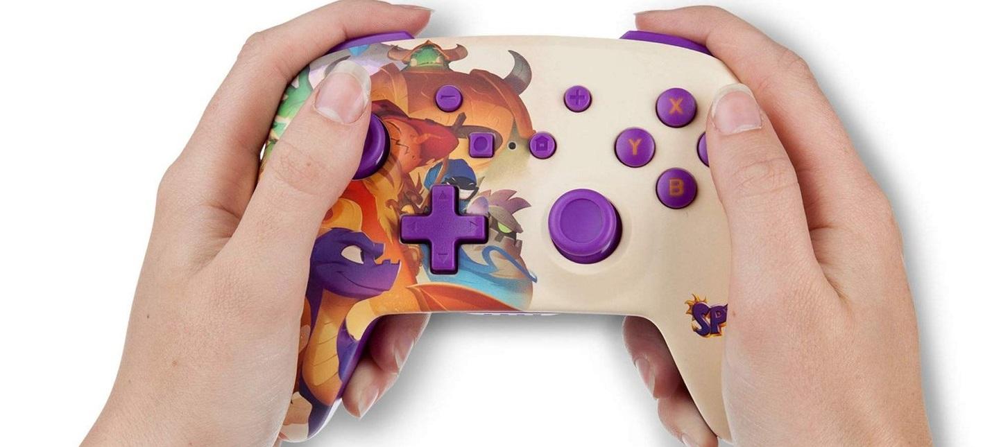 PowerA выпустит стилизованный под Спайро контроллер для Nintendo Switch
