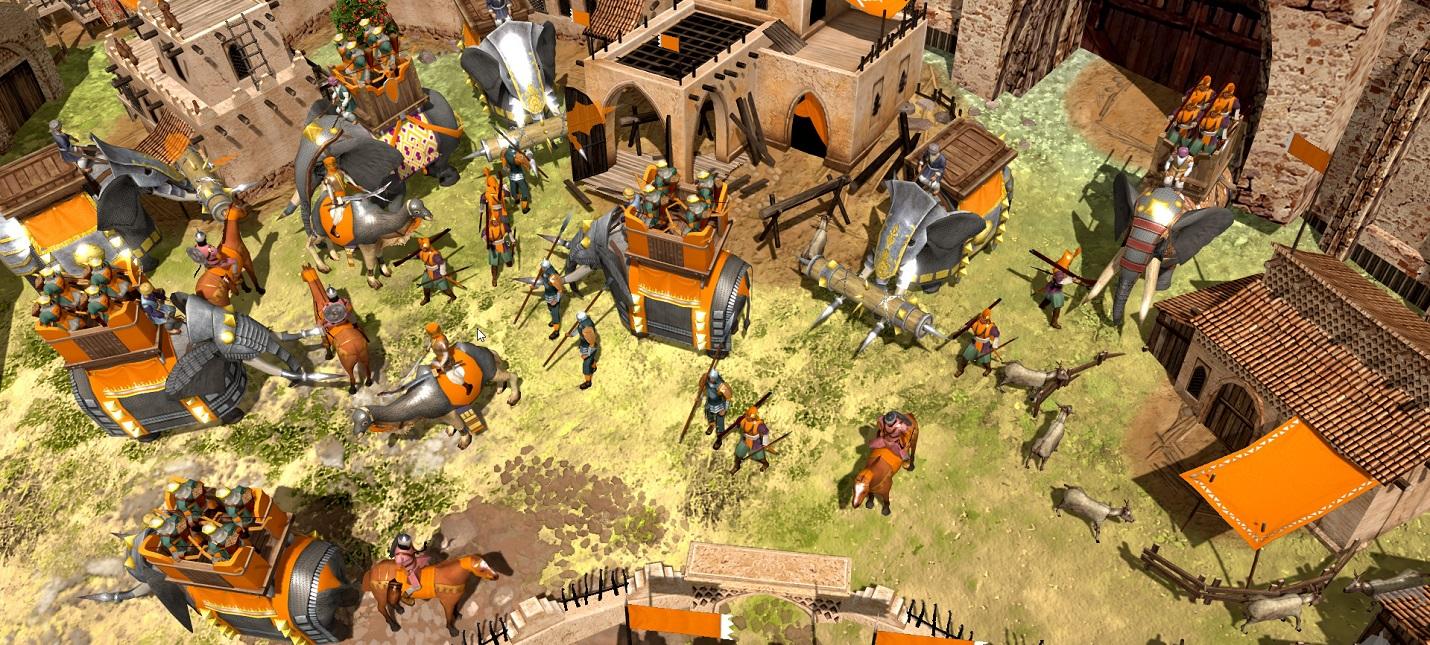 Катапульты против танков в трейлере RTS War Selection