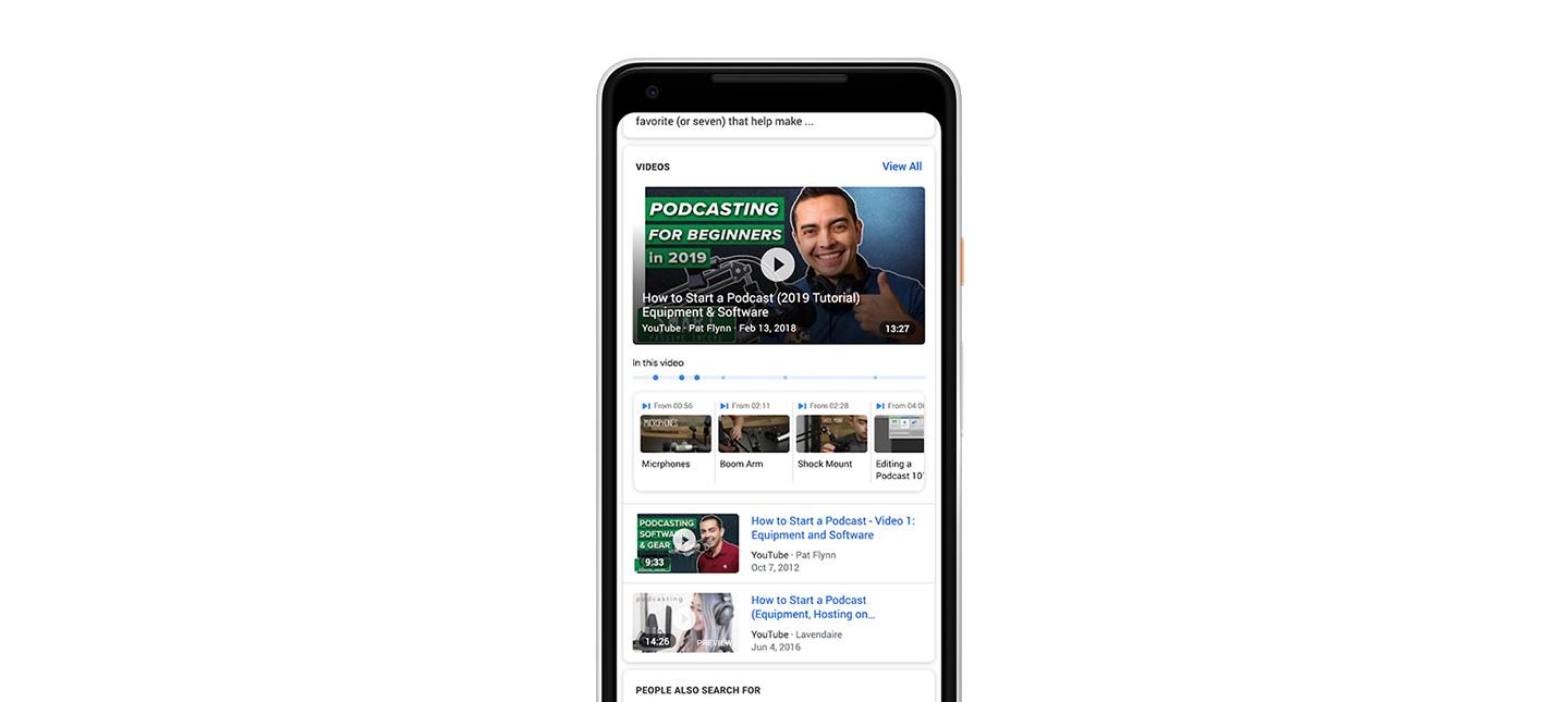 Google начинает выделять важные части видео в поисковых результатах