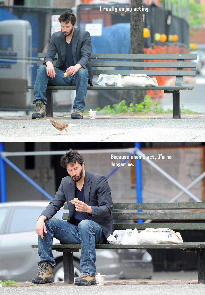 Keanu Reeves People started to do funny things with that