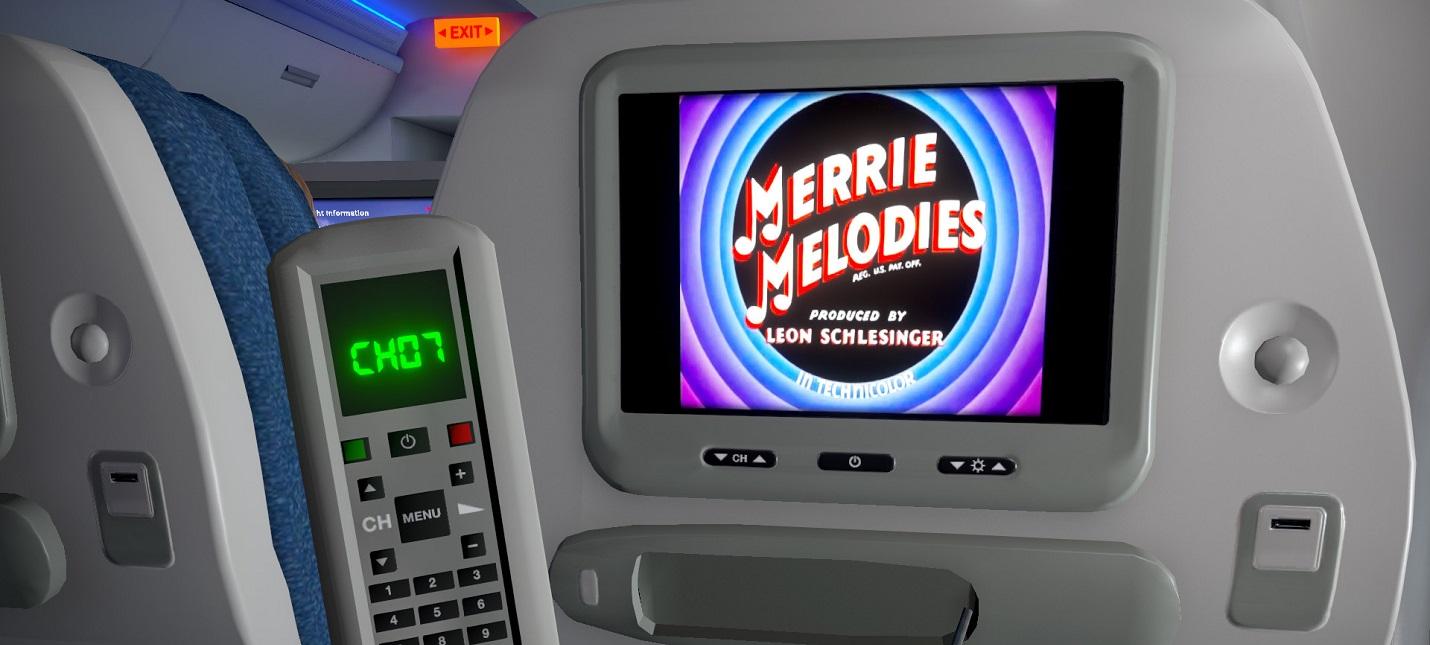 Кроссворды, кино и плачущие дети в трейлере симулятора полетов пассажиром Airplane Mode