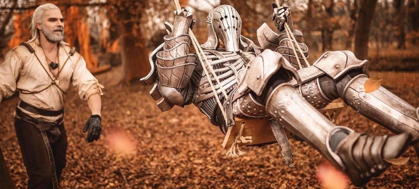 Косплеер превратил Геральта из The Witcher в пожарного, футболиста и фермера