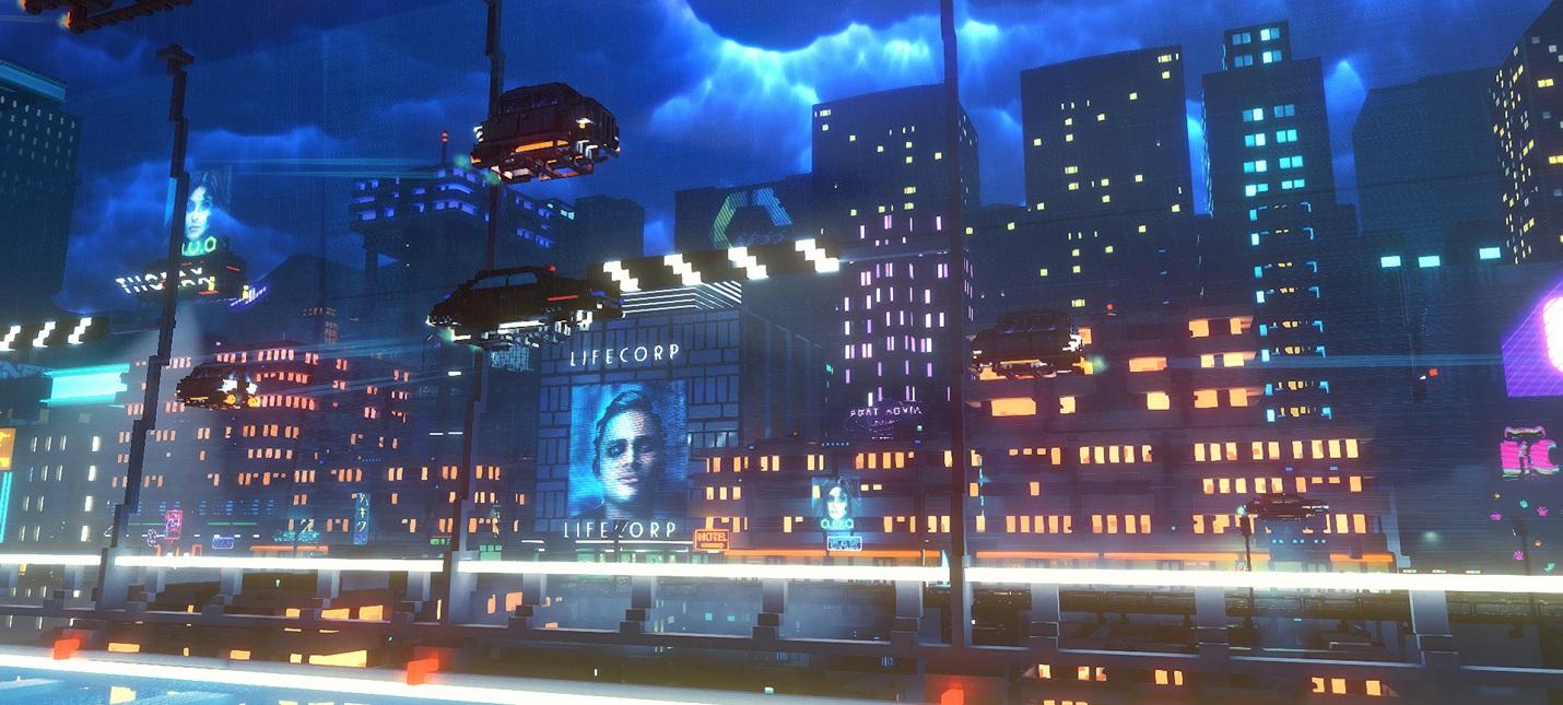 Приключения подпольного курьера в мрачном будущем в геймплее Cloudpunk