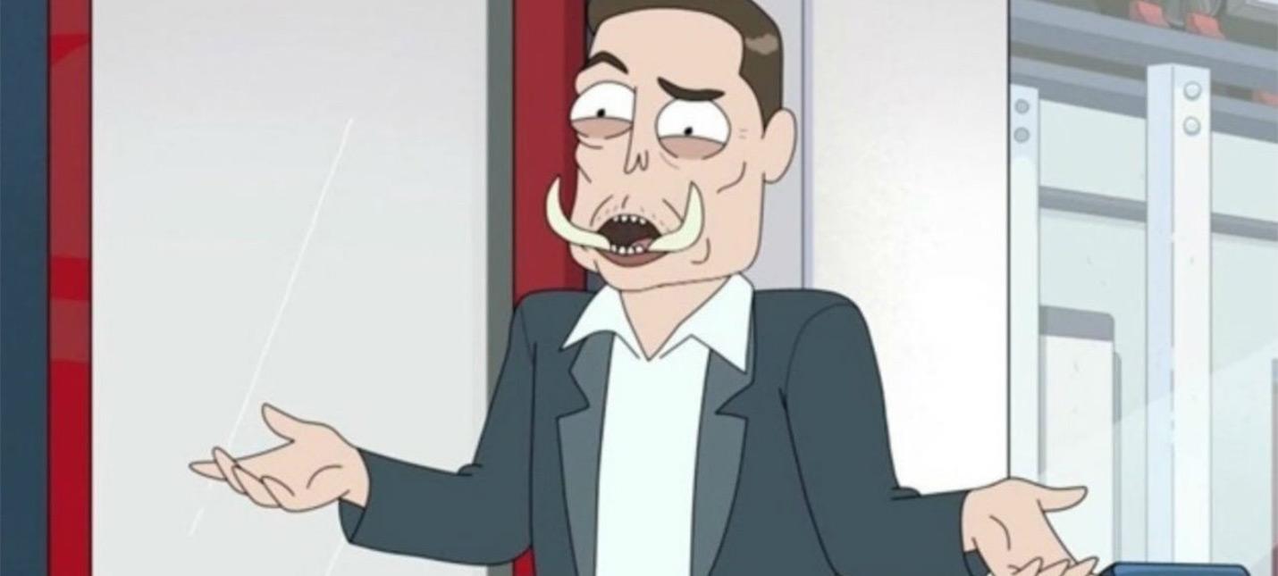 """Илон Маск озвучил самого себя в новом эпизоде """"Рика и Морти"""""""