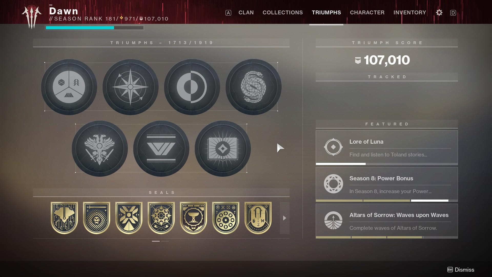 Игрок открыл в Destiny 2 все титулы за 1672 часа
