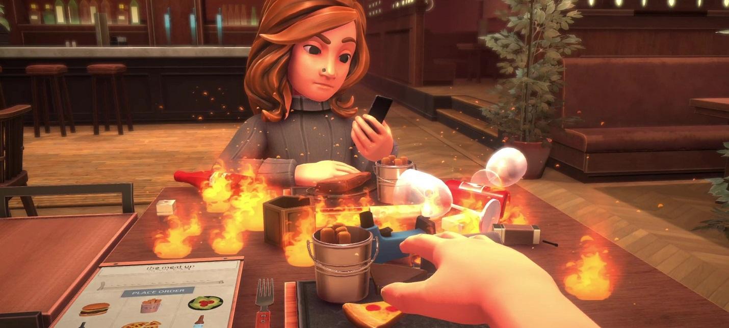 Пожары, брызги шампанского и реалистичная физика в первом трейлере симулятора свиданий Table Manners