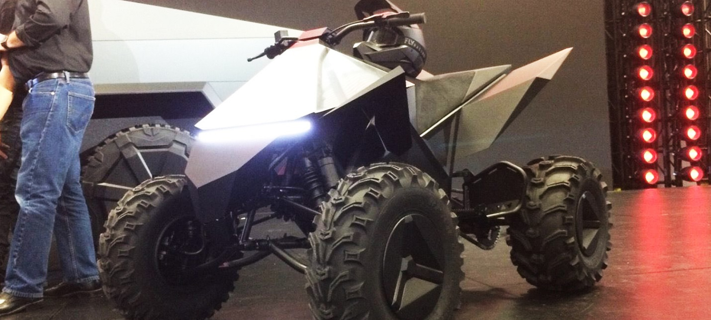 Tesla выпустит электроквадроцикл вместе с Cybertruck