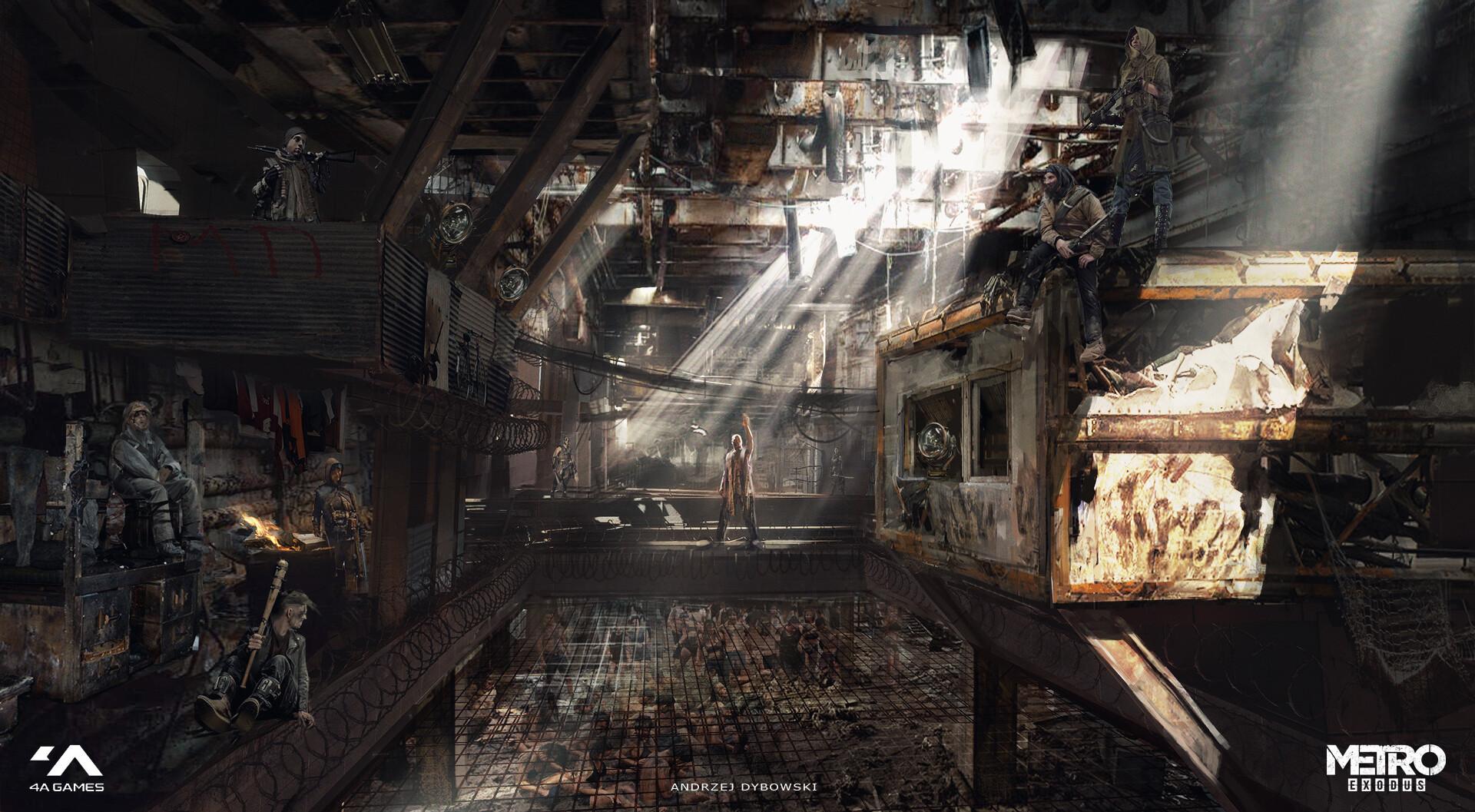 Концепт-арты Metro Exodus: от главного меню до интерьера Авроры