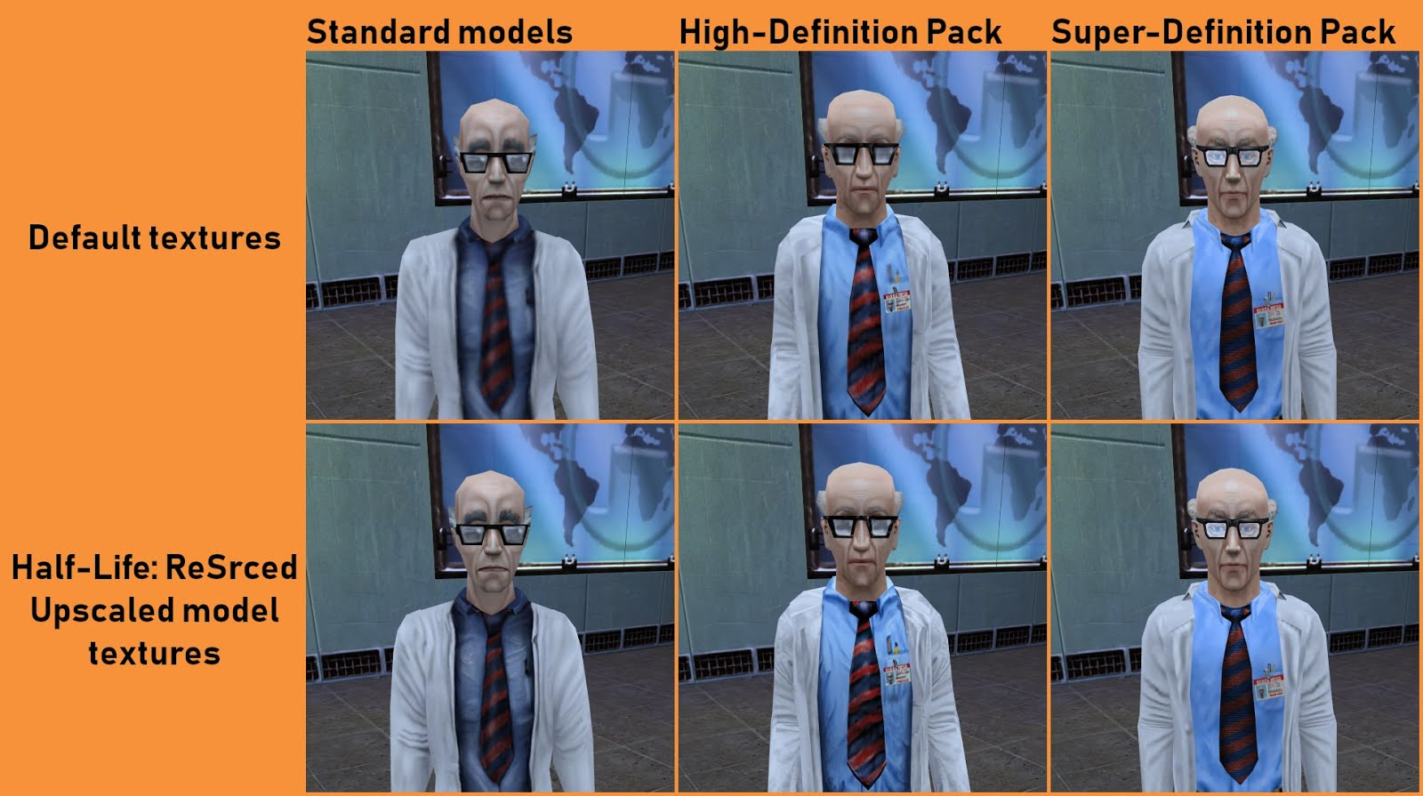 Моддер улучшил текстуры Half-Life с помощью ИИ