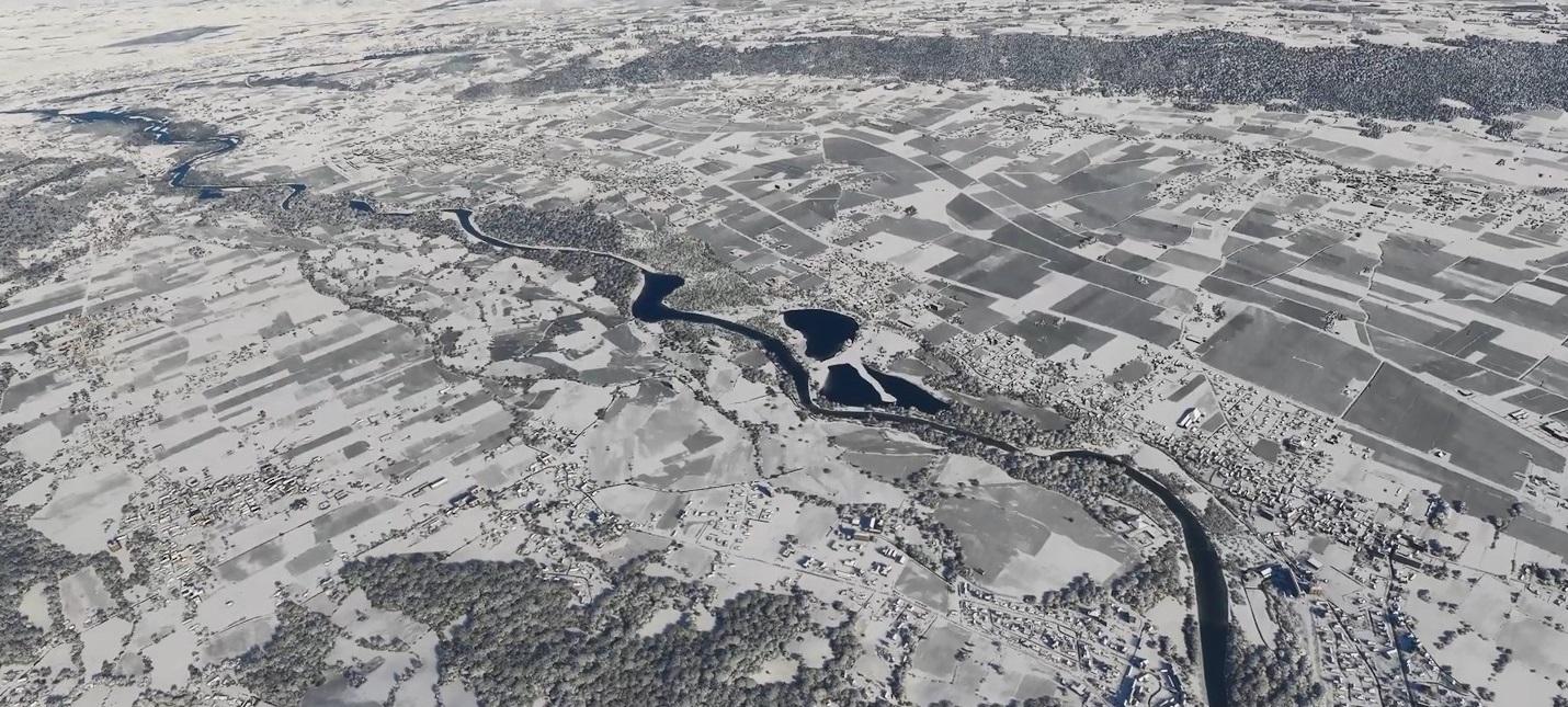 Снежные пейзажи в новом ролике Microsoft Flight Simulator