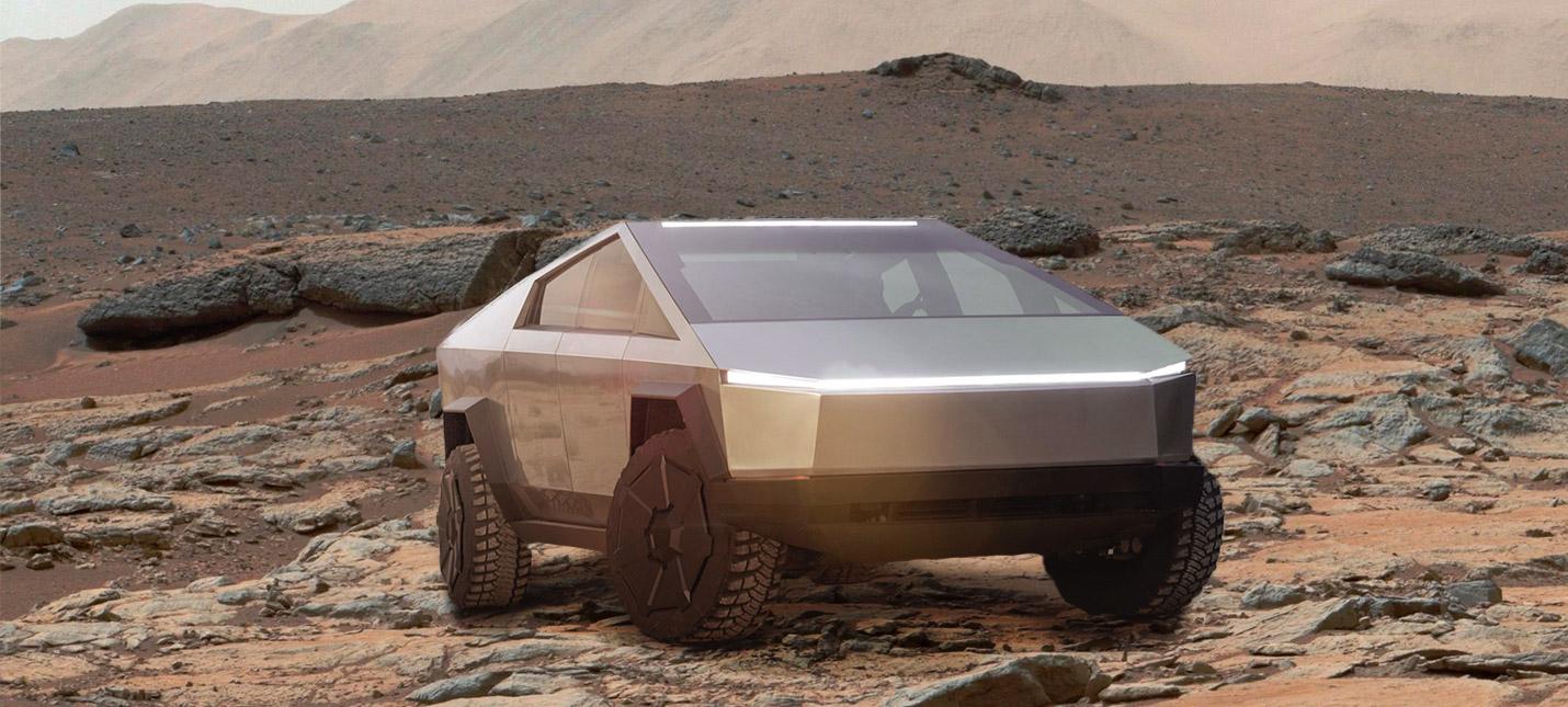 Илон Маск намекнул, что Cybertruck может полететь на Марс
