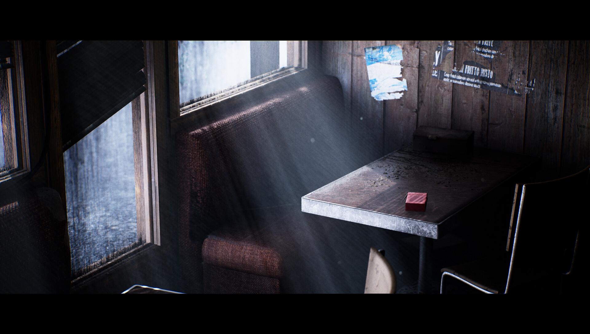 Художник воссоздал кафе из Silent Hill на Unreal Engine 4