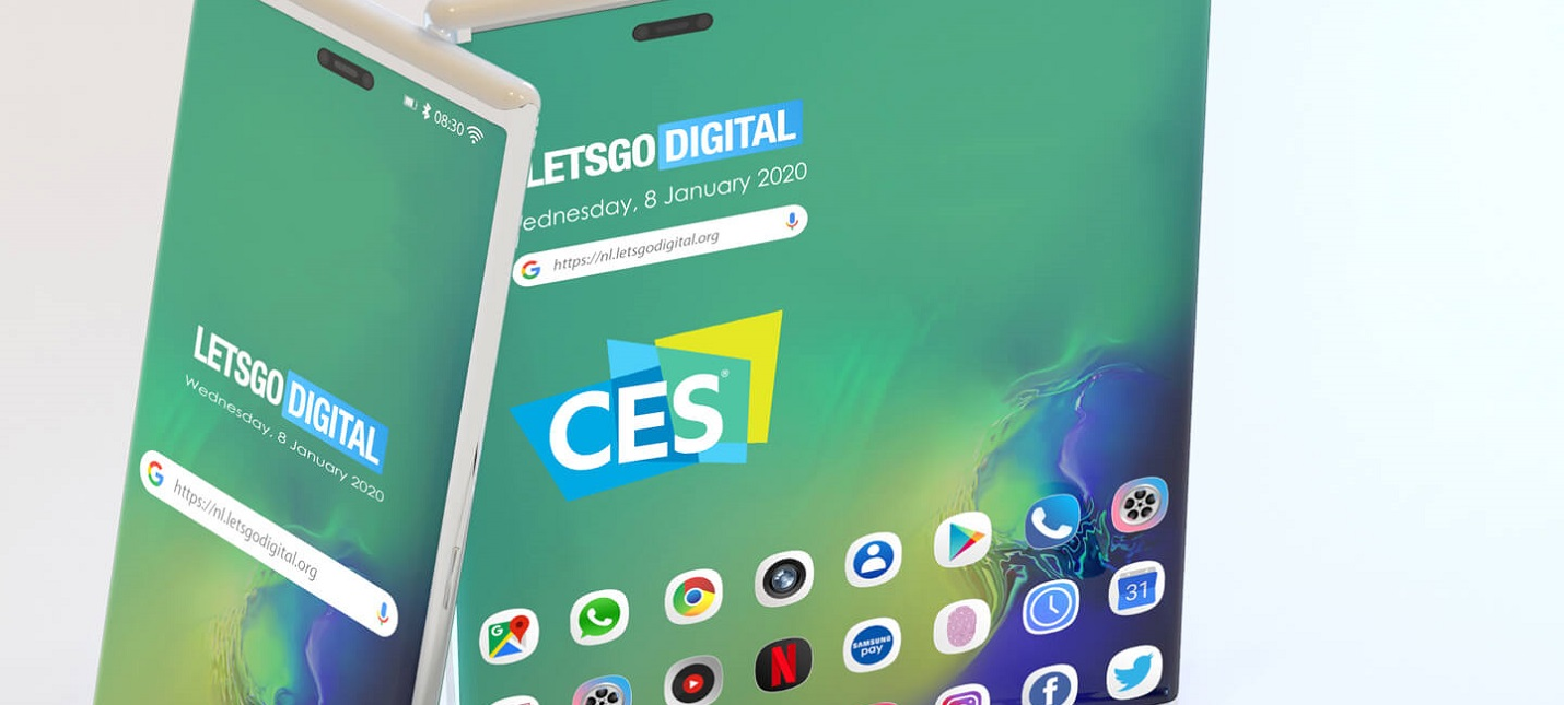 Samsung привезла на CES 2020 смартфон с гибким экраном в новом форм-факторе
