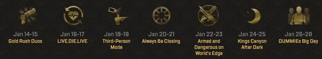 """В Apex Legends пройдет событие """"Званый вечер"""" с семью аркадными режимами"""