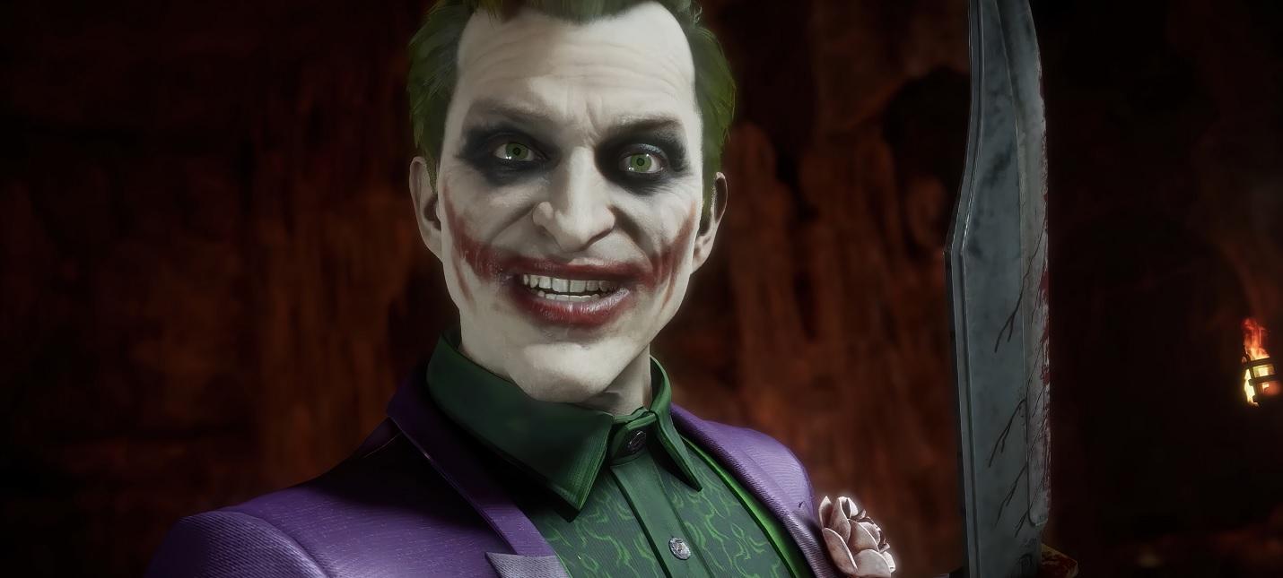 Фаталити, кукла Бэтмена и горящие деньги в геймплее Джокера в Mortal Kombat 11