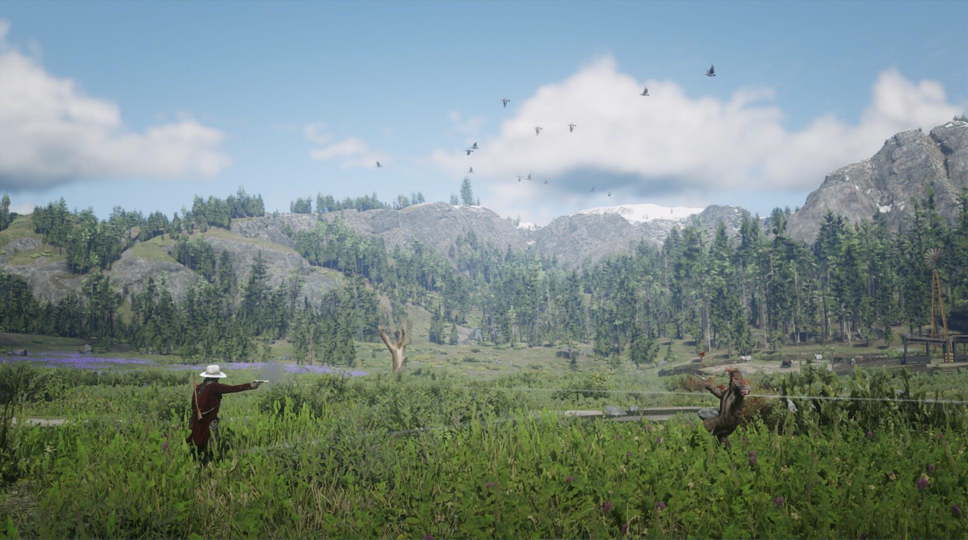 Игрок Red Dead Redemption 2 создал фотоальбом с убийствами шерифов в красивых локациях