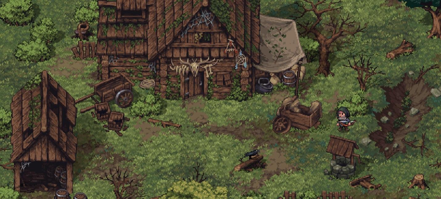 Мрачный пиксельный фэнтезийный мир и сражения с врагами в релизном трейлере RPG Stoneshard