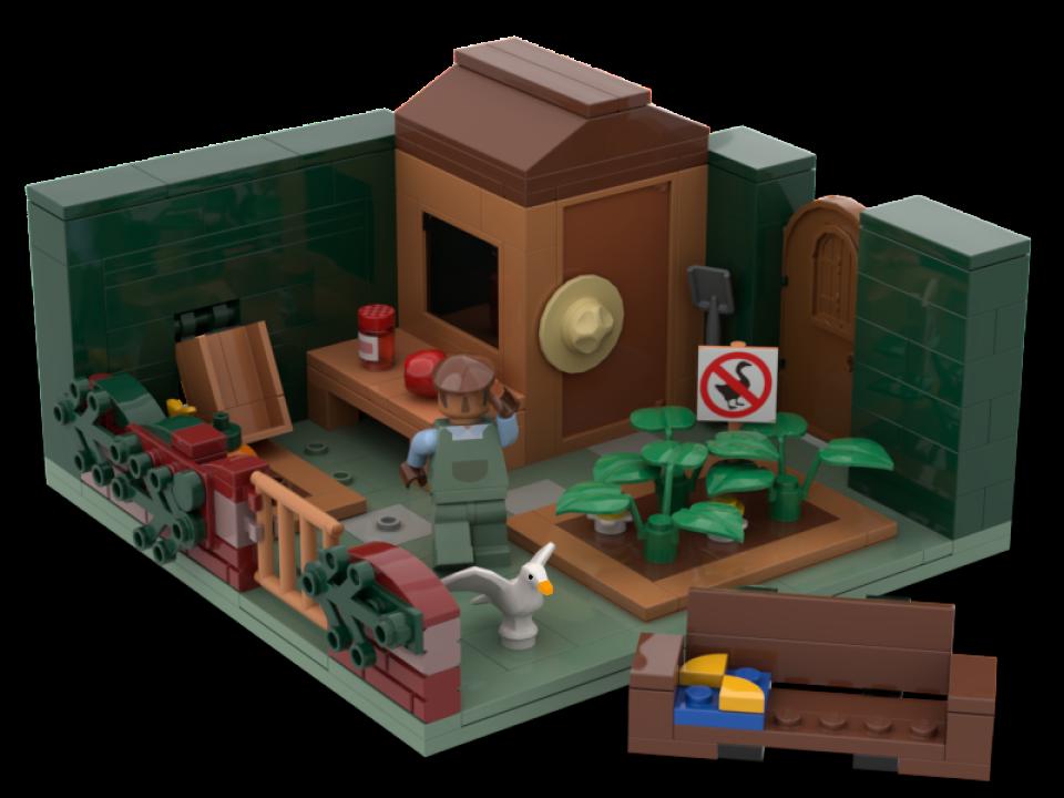 LEGO набор по Untitled Goose Game получил 10000 подержек