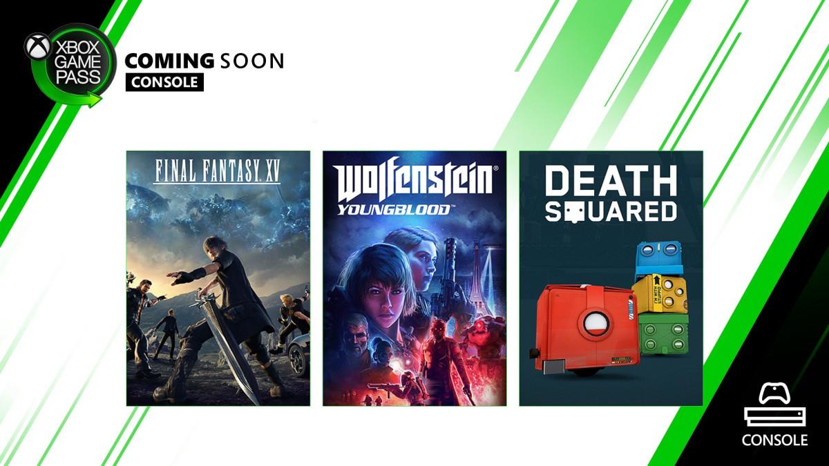 Final Fantasy 15 и Wolfenstein: Youngblood в февральской подборке Xbox Game Pass