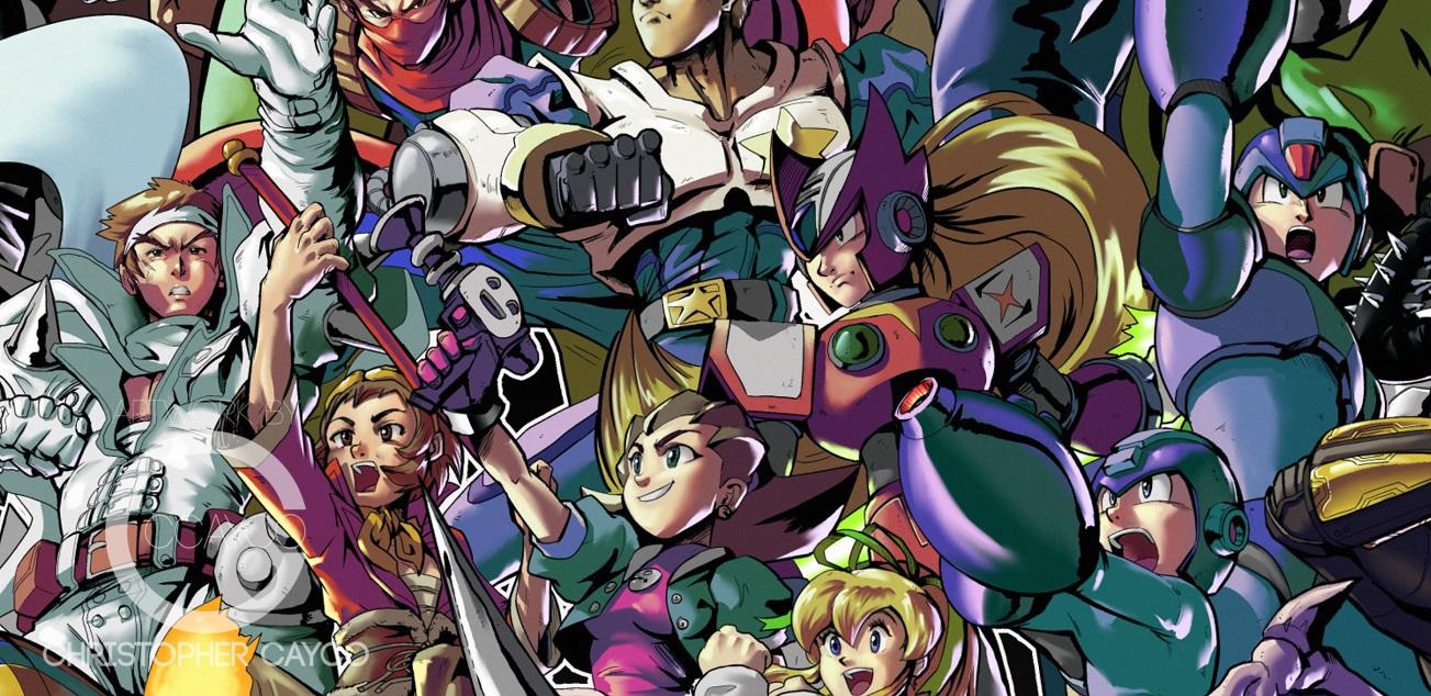 Художник нарисовал всех персонажей Marvel и Capcom на одном постере