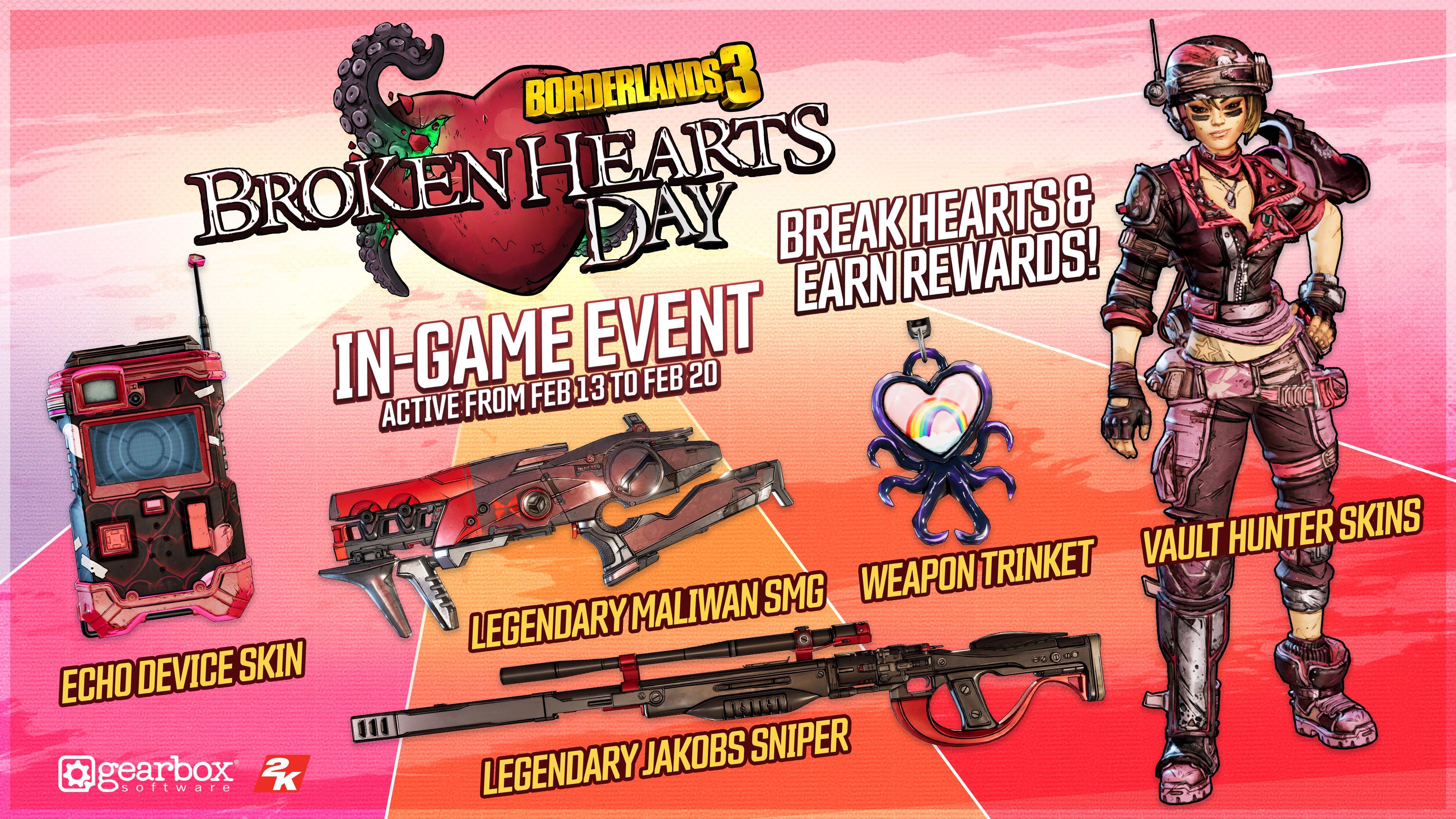 В Borderlands 3 пройдет празднование Дня святого Валентина