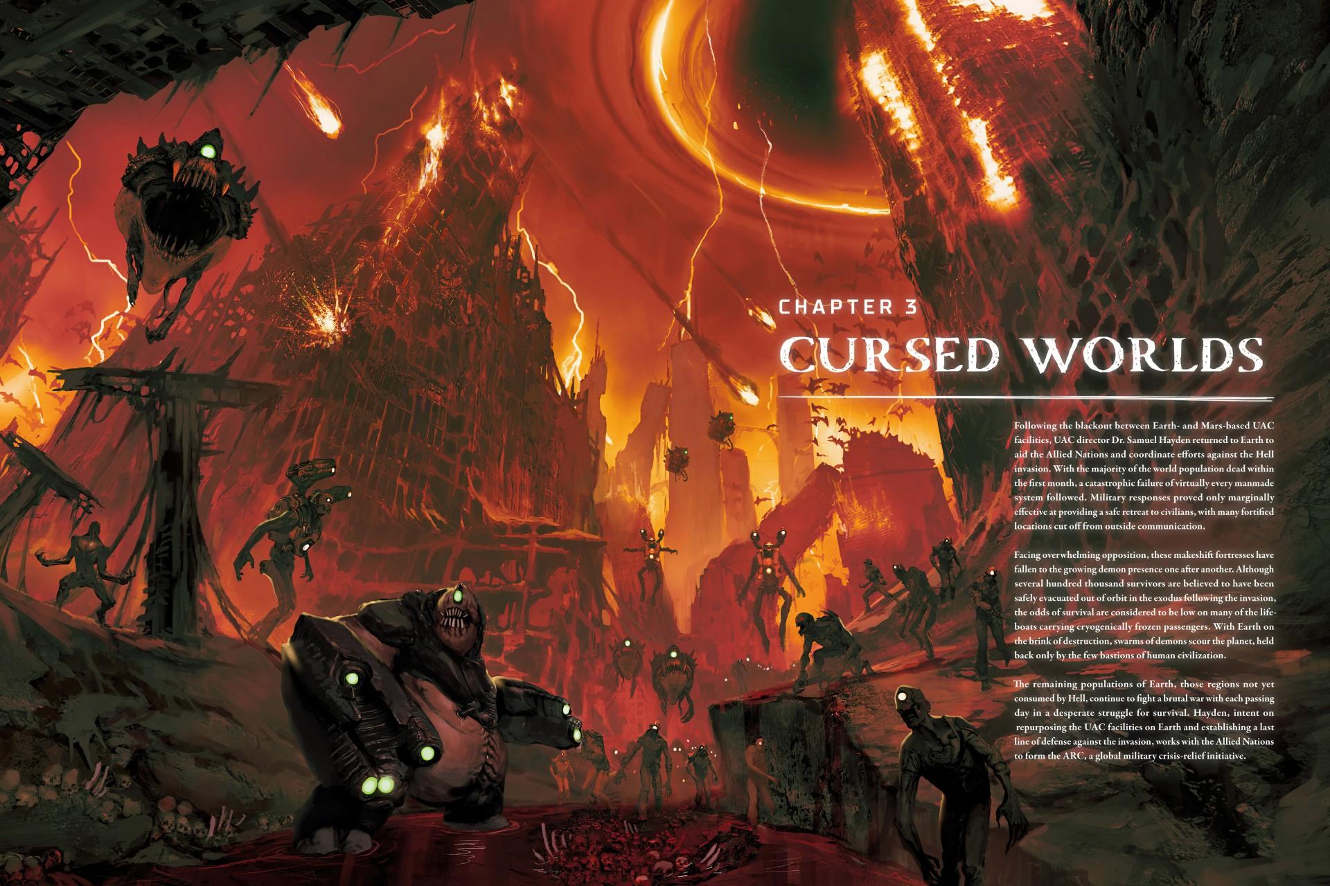 Утечка: Первый взгляд на артбук Doom Eternal — со спойлерами