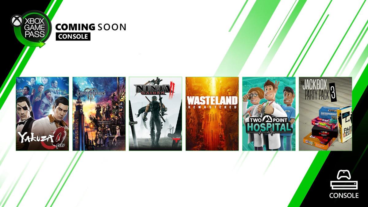 Yakuza 0, Kingdom Hearts 3 и Wasteland Remastered в свежей подборке Xbox Game Pass
