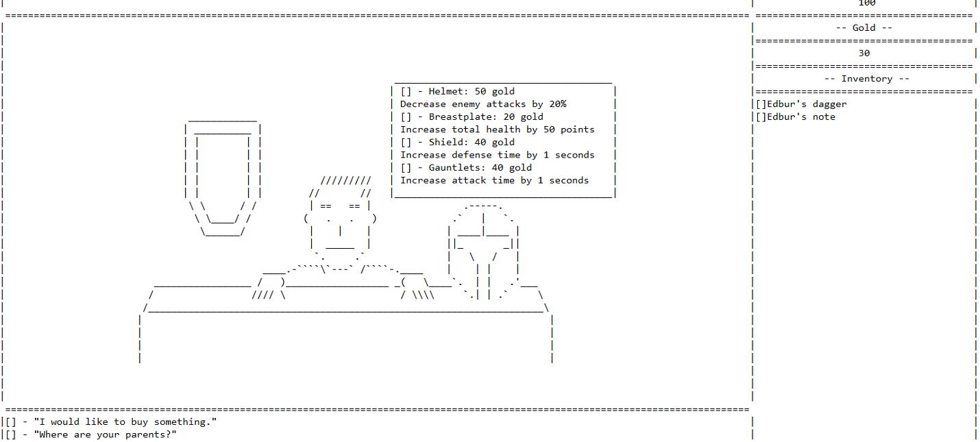And yet it hurt — текстовая RPG, работающая в Блокноте Windows