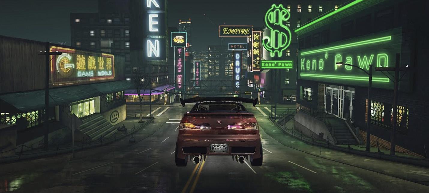 Как выглядит Need For Speed Underground с трассировкой лучей